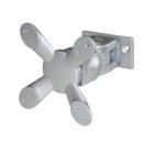 Monitor Arm, 2 snodi -attacco  VESA 75/100, Silver